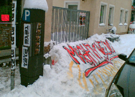 Guerilla Marketing Schnee 1