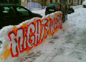 Guerilla Marketing Schnee 2