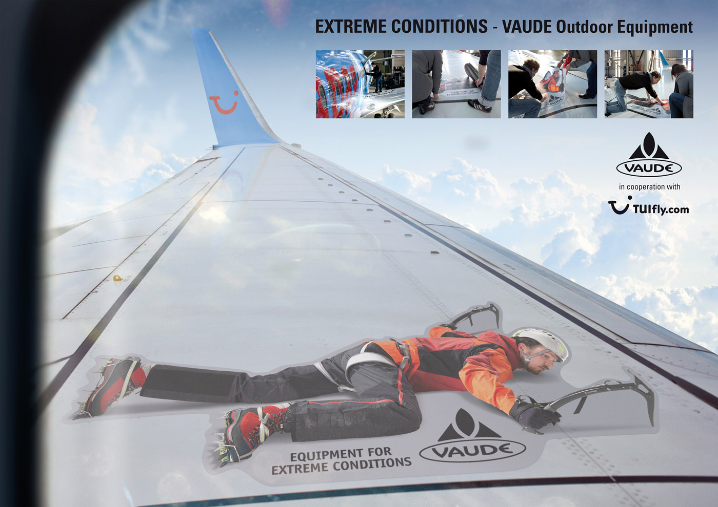Vaude TUI Fly Extreme Guerrilla Aktion